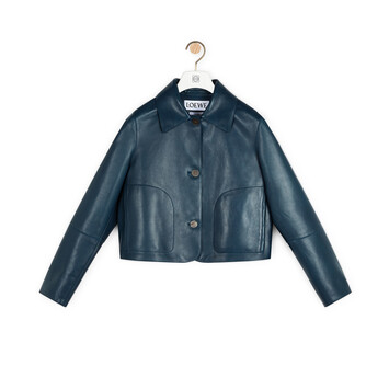 LOEWE Short Jacket バーシティーブルー front