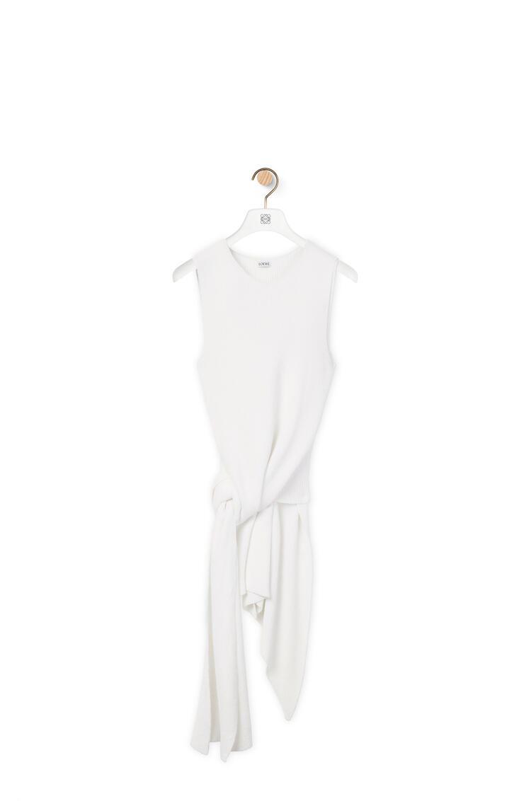 LOEWE Top de punto con nudo Blanco Suave pdp_rd