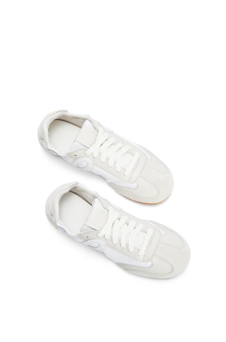 LOEWE Ballet runner in nylon and calfskin White/Off-white pdp_rd