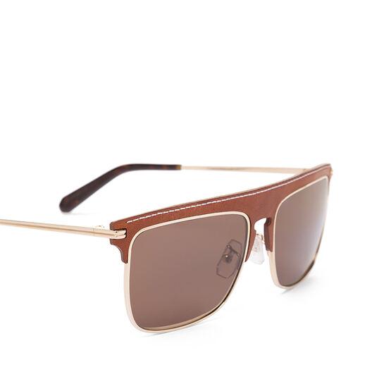 LOEWE Gafas Cuadradas Marron/Marron Oscuro front