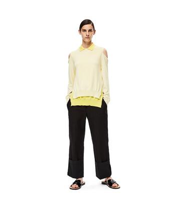 LOEWE Poloneck Trompe Loeil Sweater Amarillo/Amarillo Claro front