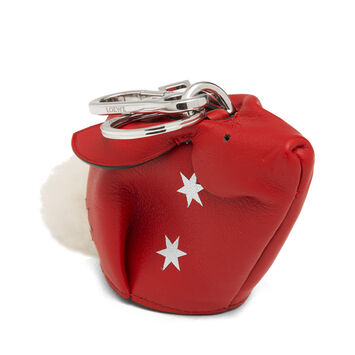 LOEWE Bunny Stars Charm Scarlet Red/Silver  front
