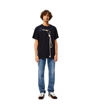 LOEWE Loewe Trim T-Shirt Marino front