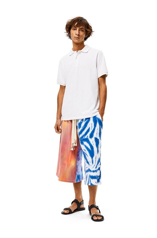 LOEWE Shorts In Tie Dye Cotton Multicolor front