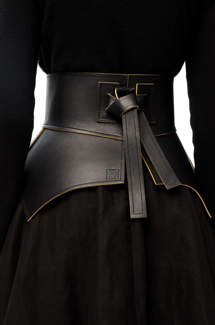 LOEWE Cinturón Obi en napa Negro/Mantequilla pdp_rd