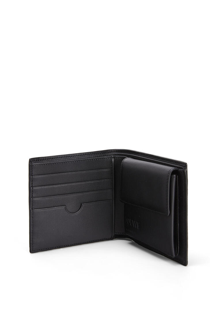 LOEWE Bifold coin wallet in soft grained calfskin Dark Moss pdp_rd