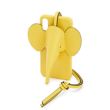 LOEWE Elephant Cover For Iphone X/Xs 黃 front