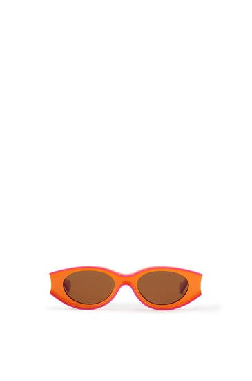 LOEWE Small Paula's Ibiza Sunglasses In Acetate Neon Orange/Neon Pink pdp_rd