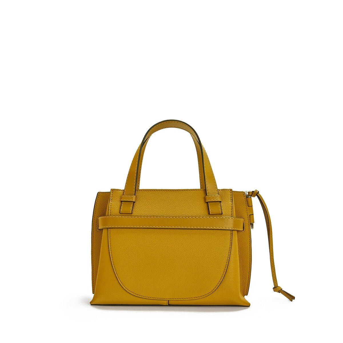 LOEWE Gate Top Handle Mini Bag Ochre front