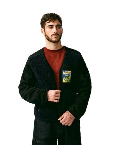 LOEWE Fleece Jacket Blue front