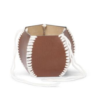 LOEWE Macrame Bracelet Cognac/White front