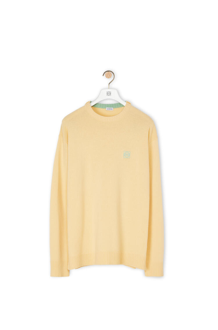 LOEWE Anagram embroidered sweater in wool Light Yellow pdp_rd