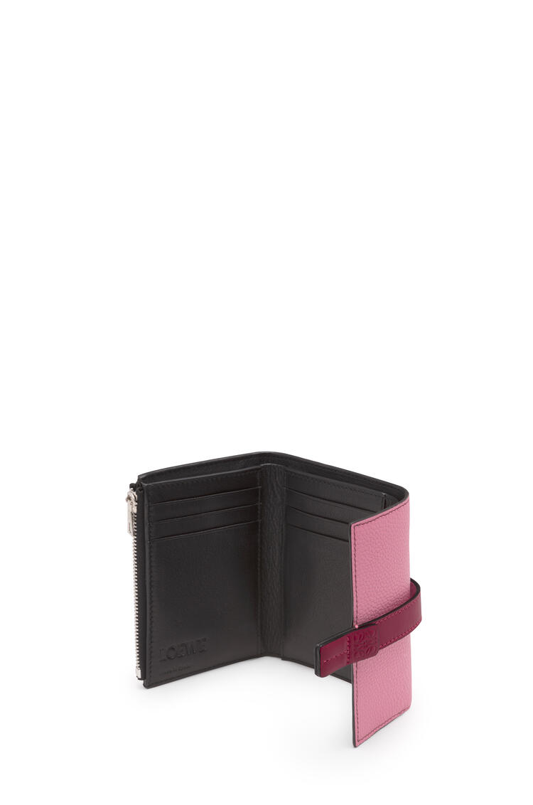 LOEWE Small vertical wallet in soft grained calfskin Wild Rose/Raspberry pdp_rd