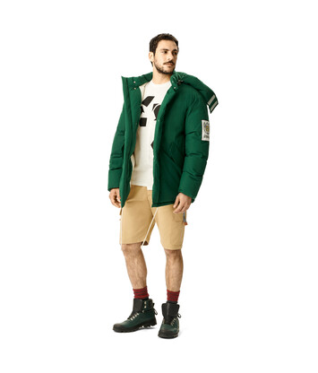 LOEWE Eln Puff Parka Forest Green front