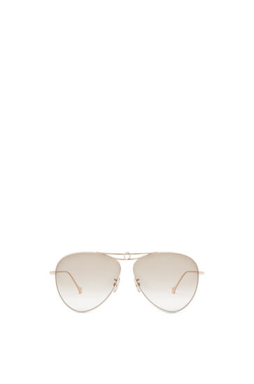 LOEWE METAL KNOT PILOT SUNGLASSES Rose Gold/Brown pdp_rd