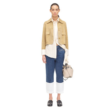 LOEWE Cropped Jacket Gold front