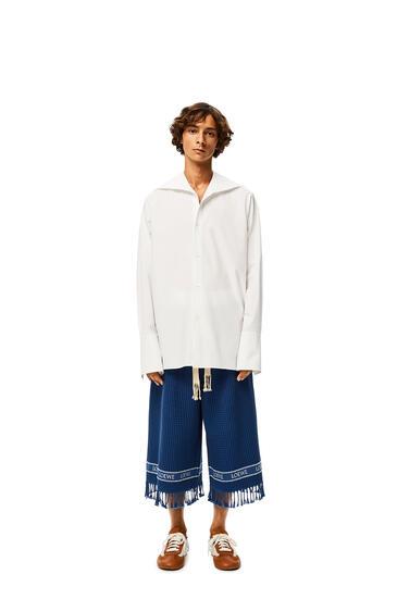 LOEWE Loewe Trim Shorts In Cotton Navy Blue pdp_rd