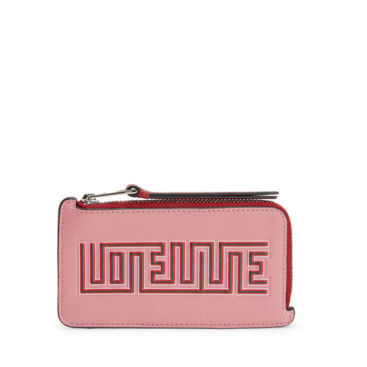 LOEWE メイズコイン/カードホルダー Candy/Rouge front