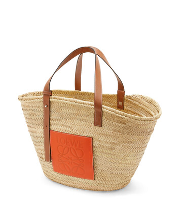 LOEWE Basket Large Natural/Orange front
