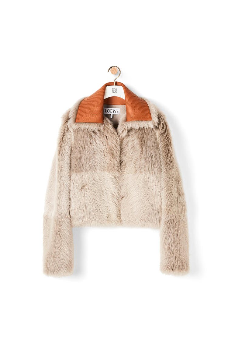 LOEWE Cropped jacket in shearling Grey/Taupe pdp_rd