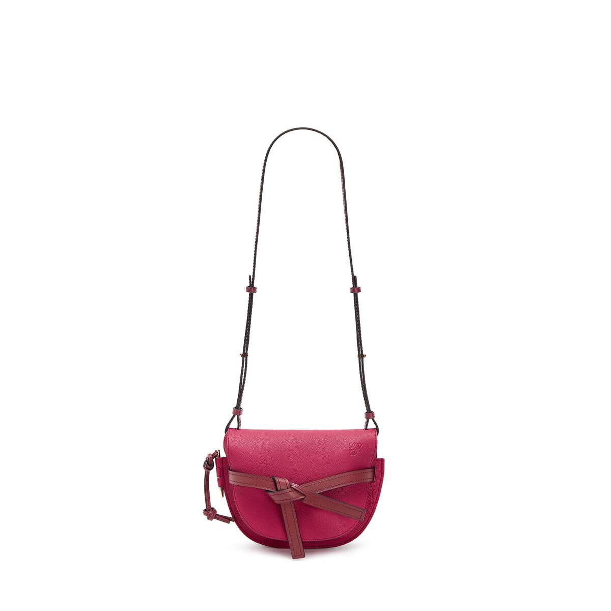 LOEWE Gate Small Bag Raspberry/Wine front