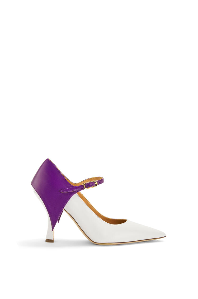 LOEWE Cape pump in calfskin Purple/White pdp_rd