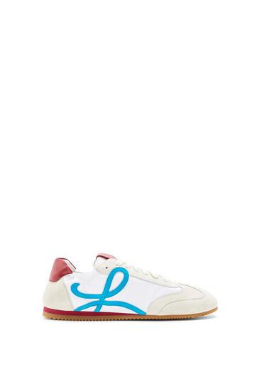 LOEWE 牛皮革芭蕾舞跑鞋 Soft White/Lagoon Blue/Red pdp_rd