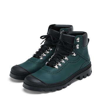 LOEWE Hiking Boot Dark Green front