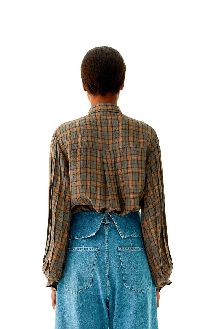 LOEWE Belted Pleated Oversize Jeans In Cotton Blue Denim pdp_rd