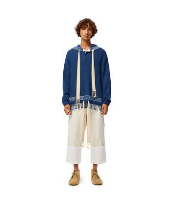 LOEWE Loewe Trim Hood Jacket 海軍藍 front