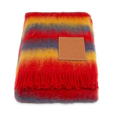 LOEWE 140X200 Rainbow Blanket Multicolor/Tan front
