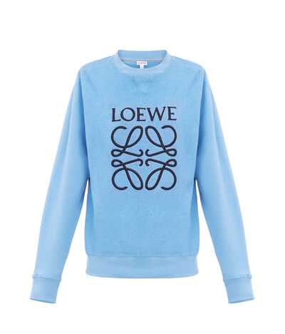 LOEWE Anagram Sweatshirt Light Blue front
