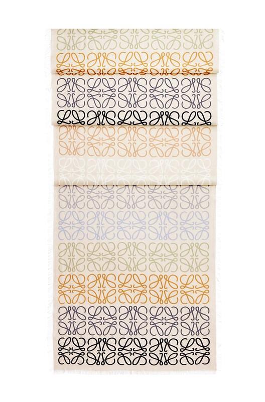 LOEWE 45X200 Anagram Scarf Multicolor/Dulce De Leche front