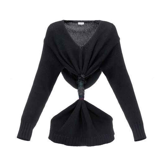 LOEWE Embroidered Knot Sweater Negro all