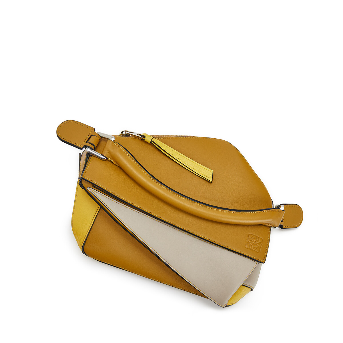 LOEWE Puzzle Small Bag Ochre/Yellow front