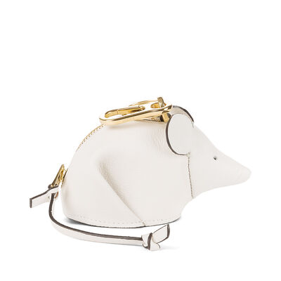 LOEWE マウス チャーム ソフトホワイト front