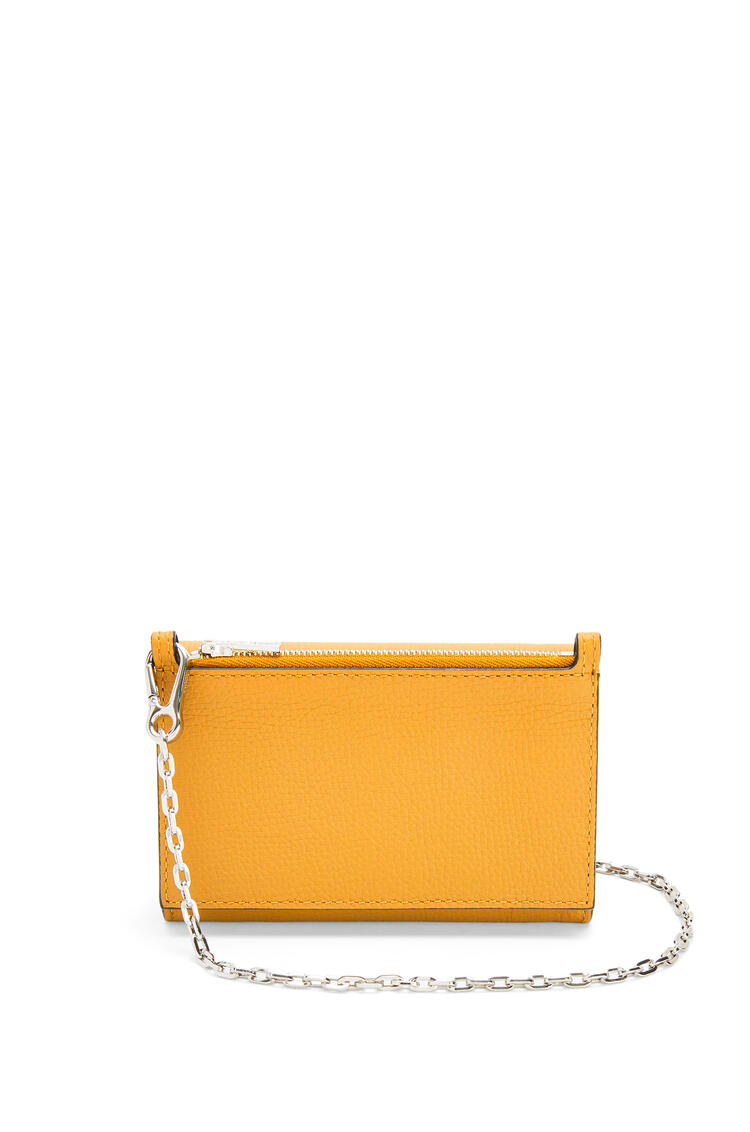 LOEWE Anagram wallet on chain in pebble grain calfskin Yellow Mango pdp_rd