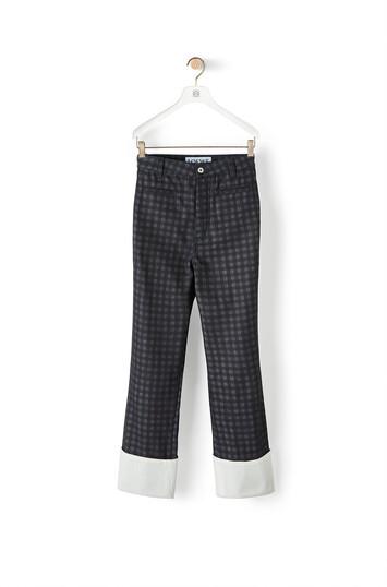 LOEWE Check Print Fisherman Jeans Navy Blue/Black front