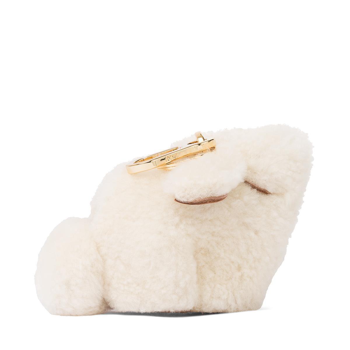 Loewe Shearling Fur Bunny Bag Charm shTBi8dK9R