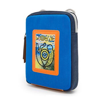 LOEWE Eye/Loewe/Nature Crossbody Bag Electric Blue/Navy Blue front