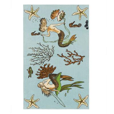 LOEWE 105X170 Paula Mermaid Towel Aqua front