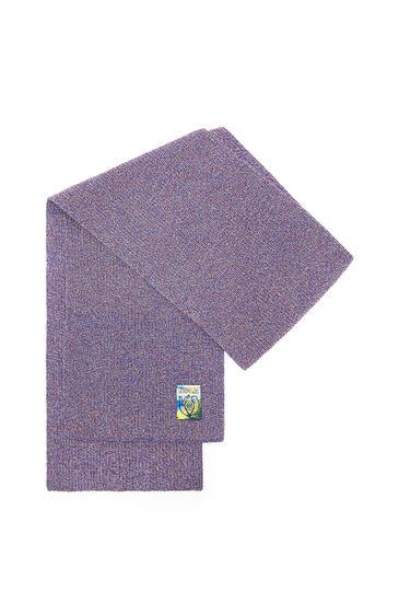 LOEWE Melange Knit Scarf In Cotton Navy Blue pdp_rd