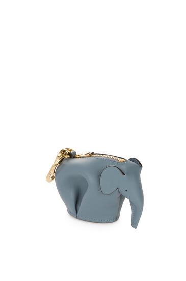 LOEWE Elephant Charm In Classic Calfskin Stone Blue pdp_rd
