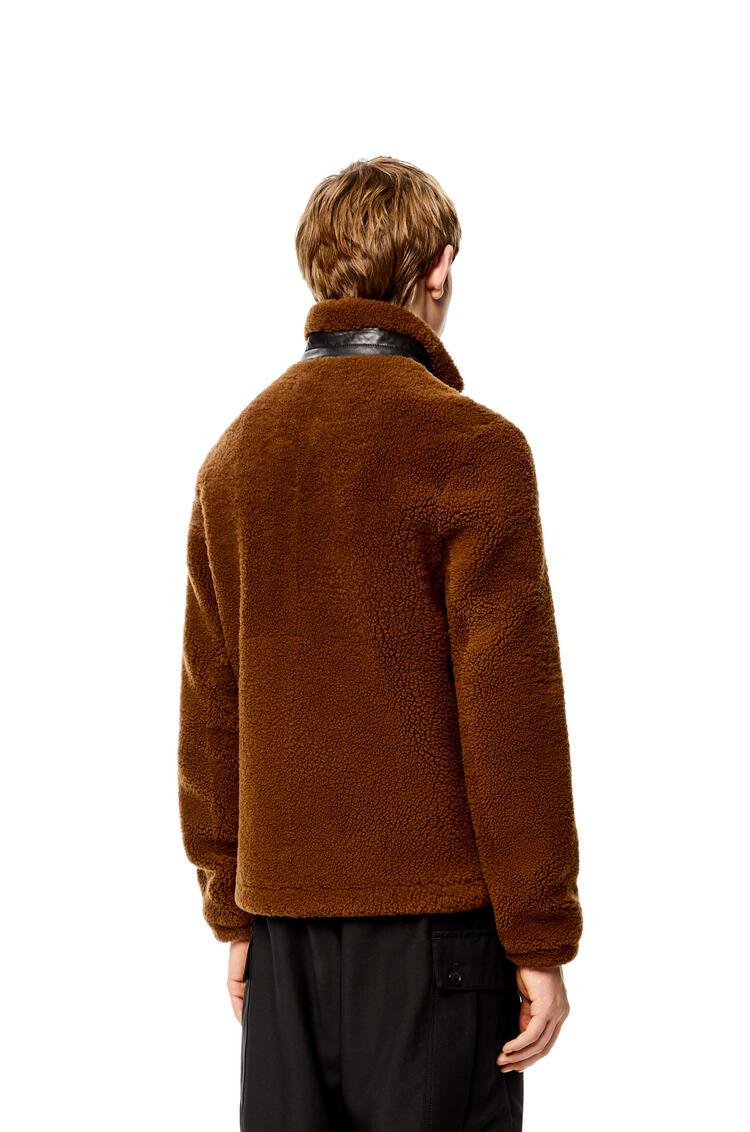 LOEWE Chaqueta en lana de oveja Camel/Negro pdp_rd
