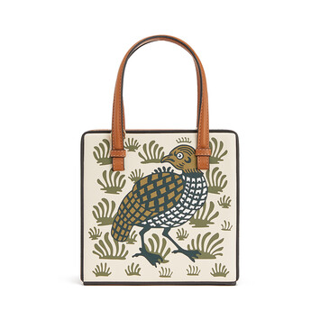 LOEWE Bolso Postal Tile Animales Ocre front