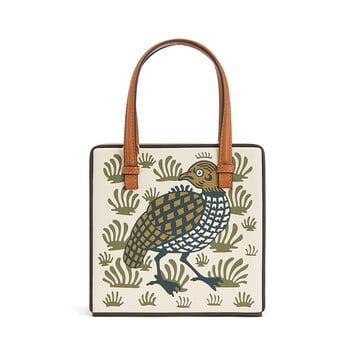 LOEWE Postal Tile Animals Bag Ochre front