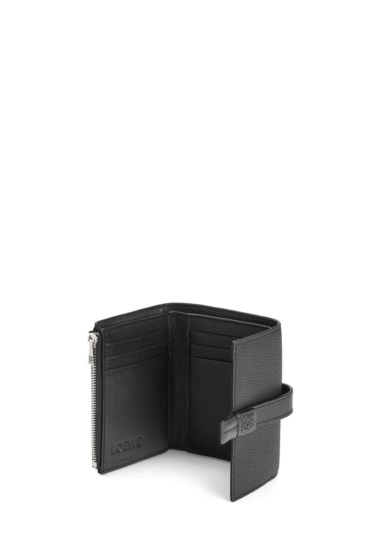LOEWE Small vertical wallet in soft grained calfskin Black pdp_rd