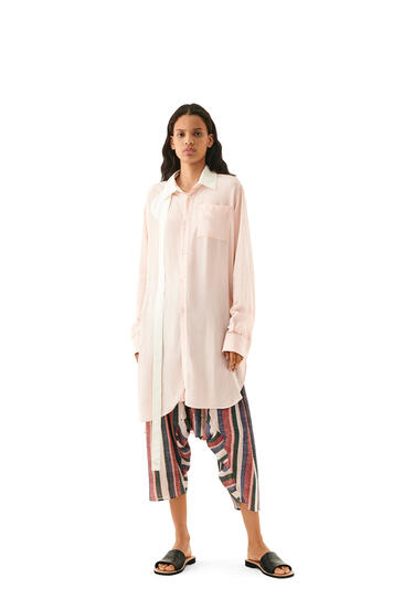 LOEWE Strap Oversized Shirt In Viscose Pink pdp_rd