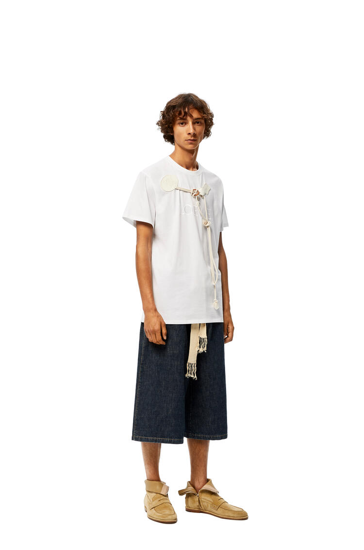 LOEWE Camiseta En Algodón Con Ribete Loewe Blanco pdp_rd