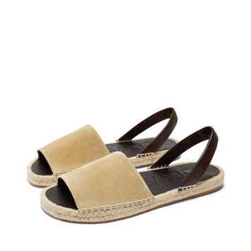 LOEWE Espadrille Sandal 金色/棕褐色 front